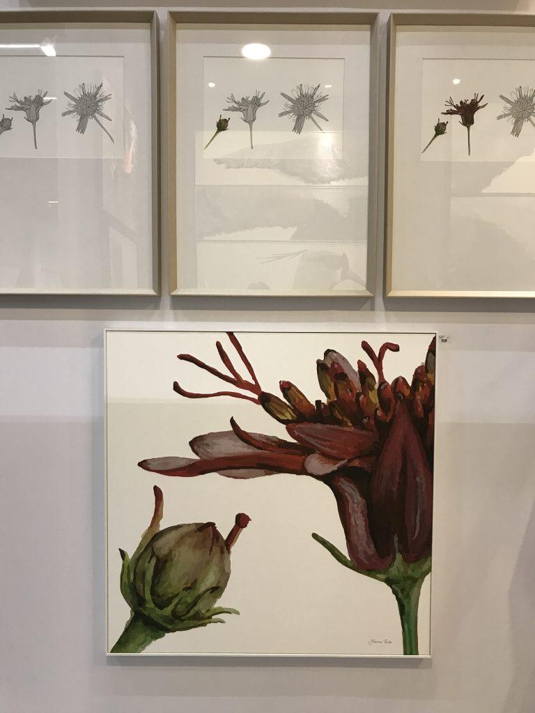 Quatro obras da Coleção Cravo-do-Campo, de Mariana Prestes, na Casa Tendenza Galleria - eleoneprestes.com