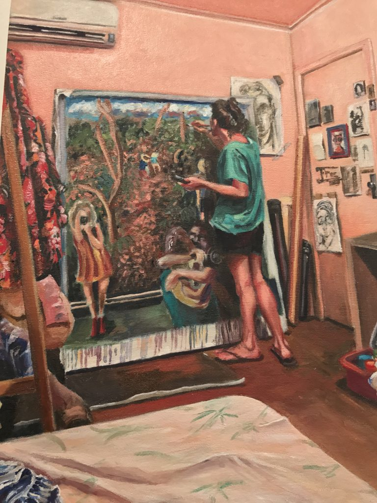 Pintura de aluna de Marilice Corona