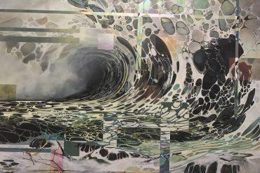 Obra de arte de exposição no Santander, em Porto Alegre