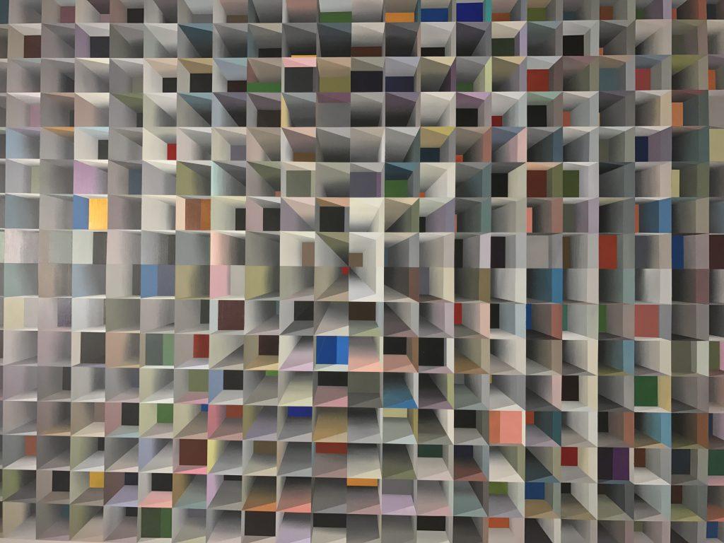 Obra de arte em exposição no Santander Cultural, em Porto Alegre