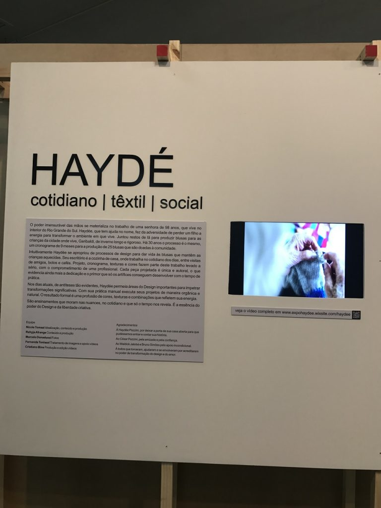 Exposição Haydé, concebida por Nicole Tomazi - foto Eleone Prestes