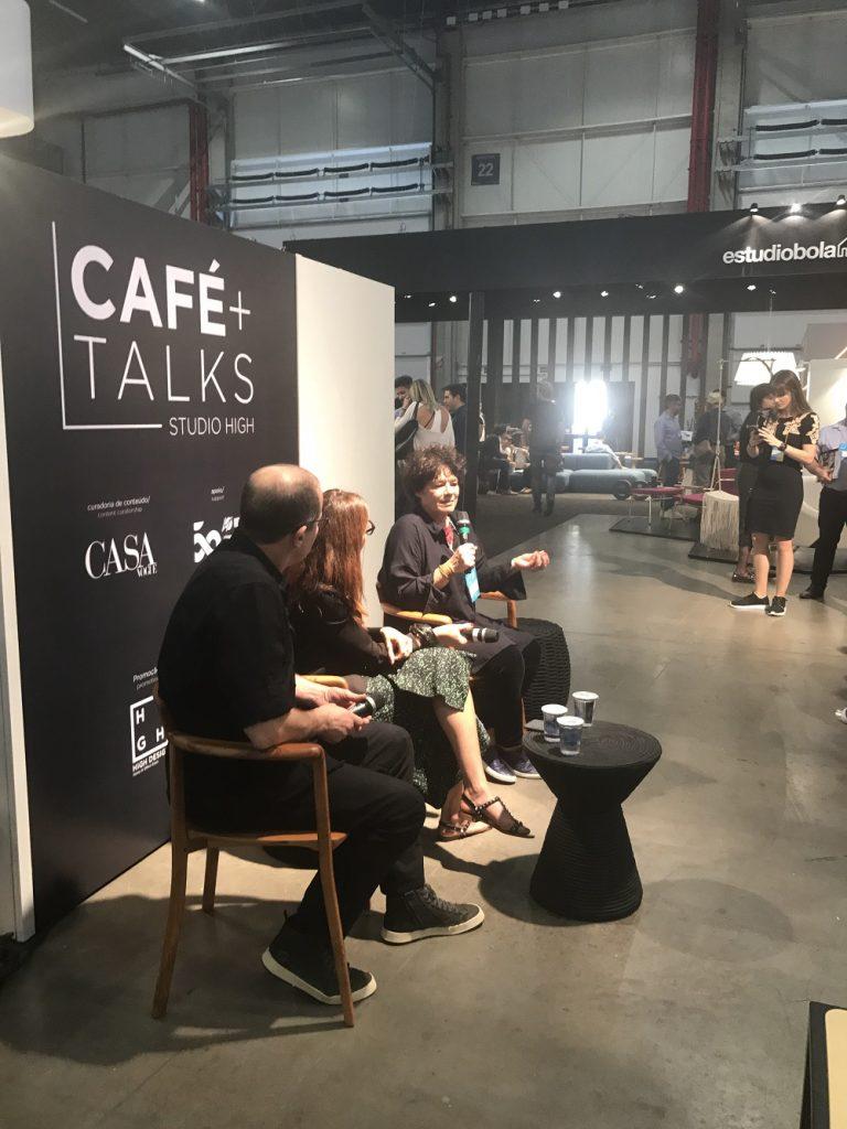 Talks na High Design com Inês Schertel e Aristeu Pires, conduzido por Taissa Buescu - foto eleone-prestes