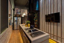 Cozinha 2 Mundos, de Natália Prates, Aline Pires e Thiele Londero, ganhadoras do Archathon SC (foto Lio Simas)