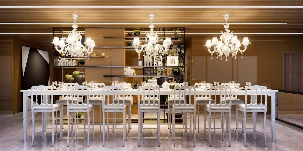 Área de jantar do Salão de Festas YOO Moinhos