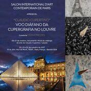 Convite exposição Claudio Cupertino no Louvre