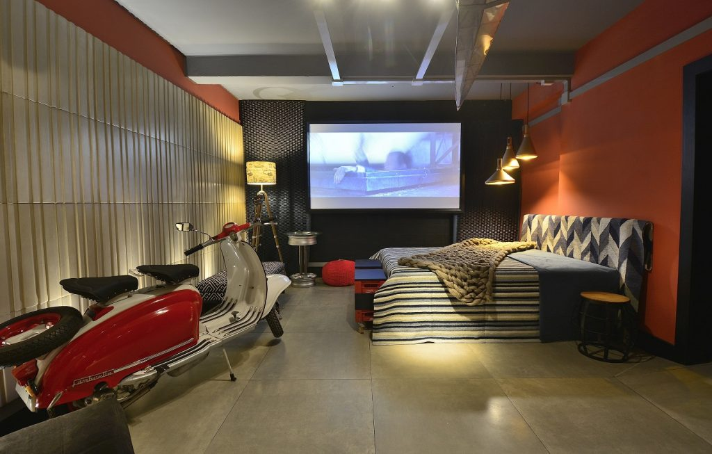 Geral da área do dormitório do Studio