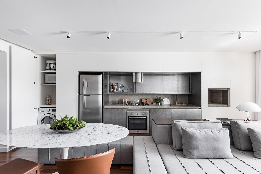 Apartamento do Anita Residence com interiores projetados pelo escritório Ambidestro (Fotos Marcelo Donadussi, divulgação)