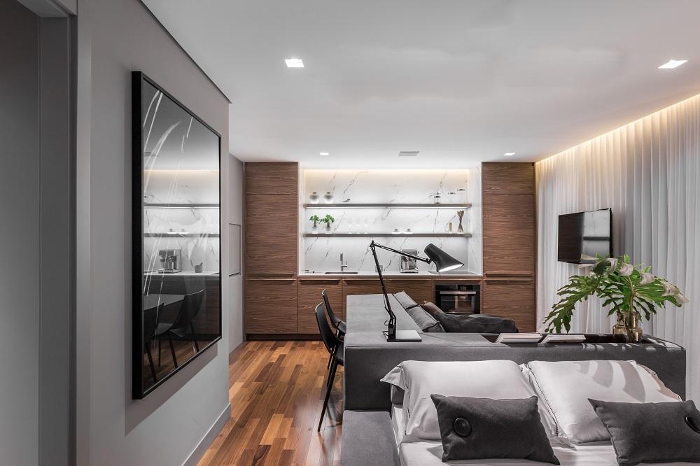 Apartamento compacto com amplo conforto (Fotos Marcelo Donadussi, Divulgação)