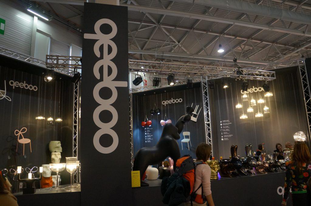 Qeeboo na GTV com seus móveis com identidade na Maison & Objet de janeiro de 2018 em Paris