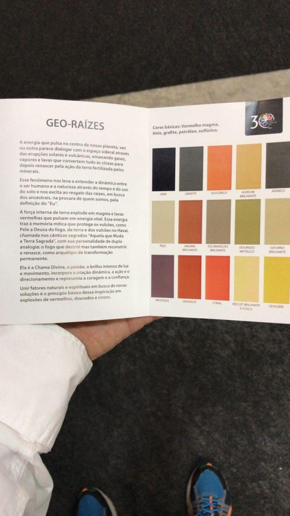 Eis o grupo de cores Geo-Raízes