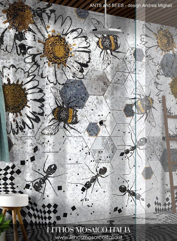 Propostas criadas por Andrea Mighali com elementos da natureza, da art icônica italiana e da op art