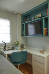 Dormitório criado com a alteração na planta