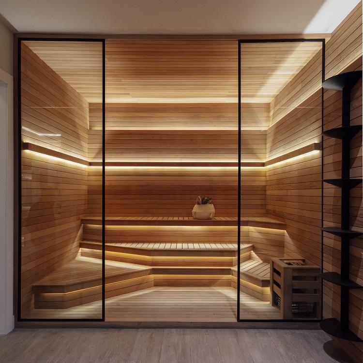 Sauna em casa (foto Cristiano Bauce, divulgação CasaCor RS)