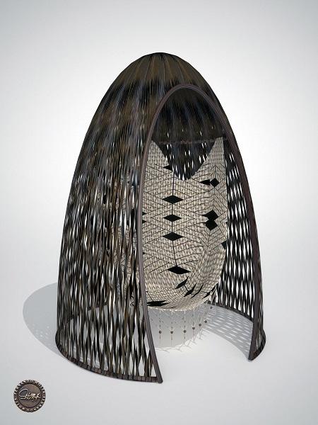 Criação de Fernando Motta para a exposição de redes durante o DW