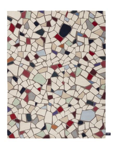 Este mosaico de azulejos é de um realismo que parece ter sido feito de revestimentos mesmo. A criação é do laboratório de design da CC Tapis (crédito: CCTapis, divulgação)
