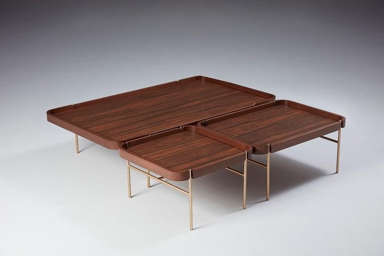 Com design de Emerson Borges, a Tumar leva para a ABIMAD'29 a mesa de centro Porto, peça que se divide, se multiplica e, ao mesmo tempo se une formando um conjunto