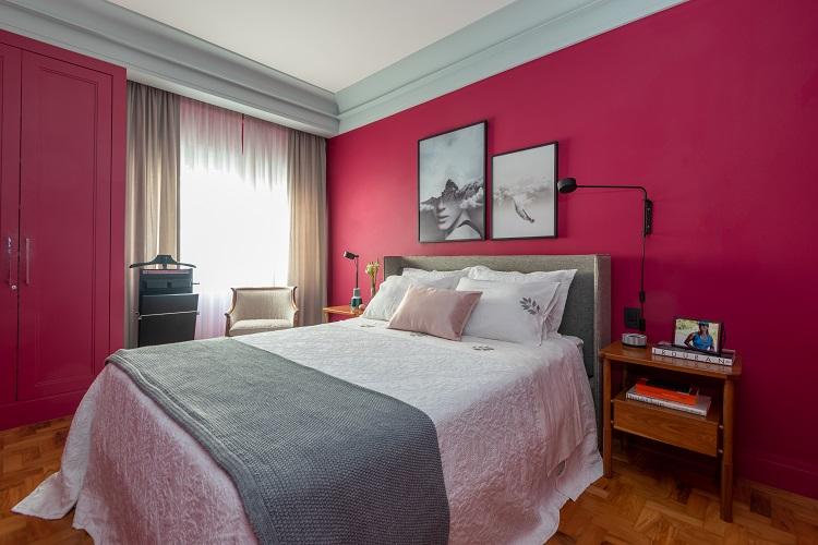 Dormitório do casal ganhou novo décor