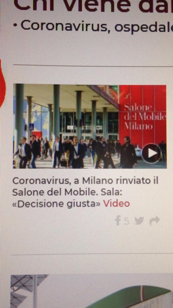 Jornal italiano destaca a mudança de data do Salone del Mobile de Milano
