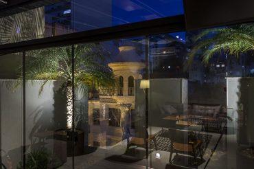 Vista da arquitetetura do entorno do coworking no Centro Histórico de Porto Alegre