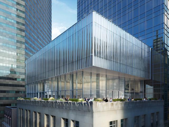 Fachada da Tiffany, em Nova York: Projeto de reforma com fachada de vidro