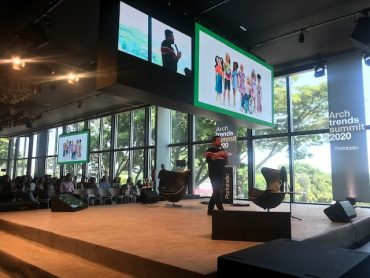 Ferreirinha falando no Archtrends Summit da Portobello (foto Studio Prestes)