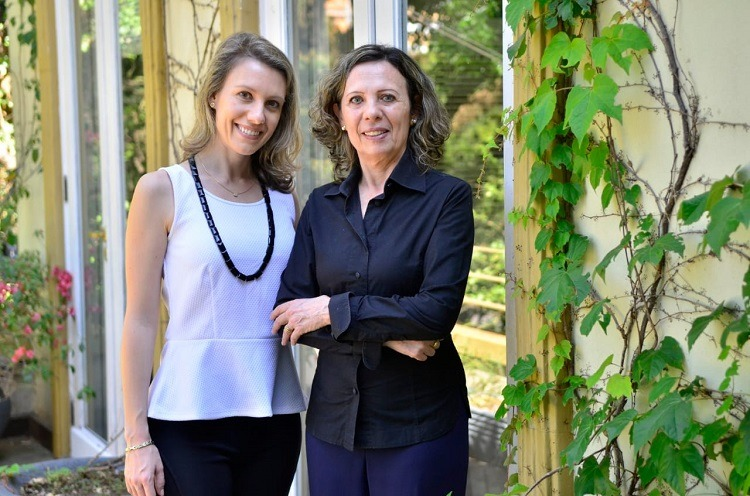 Mãe e filha, Julia Feldmann Graeff e Marion Feldman, cuidam dos clientes juntas