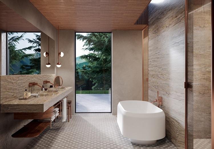 Banheira com design de Patricia Urquiola