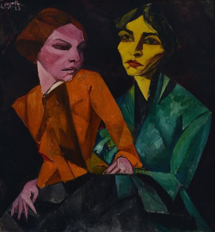 A Melancolia Expressionista | Daydreamer, 2010, Vik Muniz e Duas amigas,1913, Lasar Segall