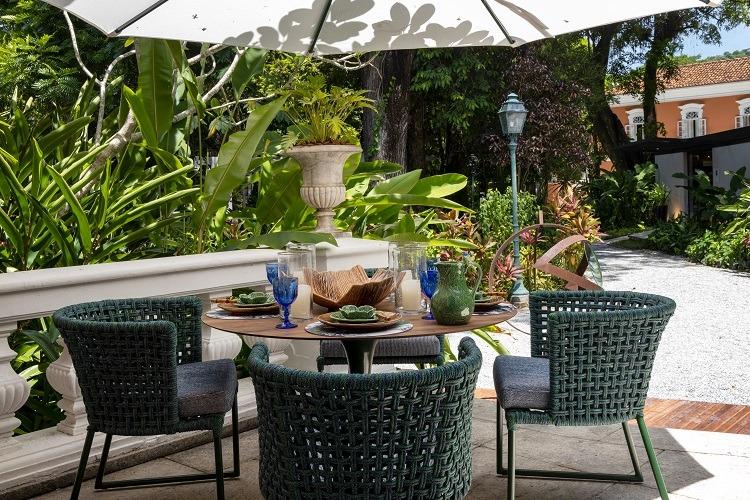 Estar com mobiliário Tidelli na CasaCor Rio
