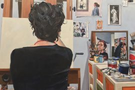 Pintura de Marilice Corona no MARGS