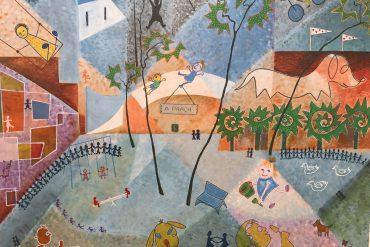 Obra naïf de Luiza Fontoura exposta no MARGS