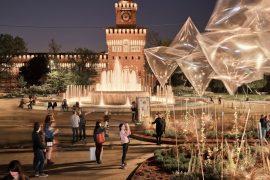 Instalação da Piuarch na Piazza Castello