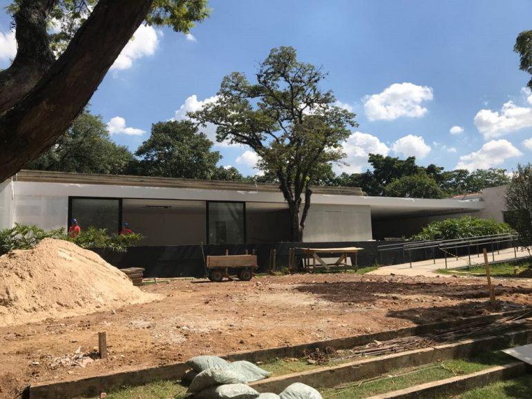 Casa Linea em obras, há três semanas. O ambiente tem a assinatura de Lídia Maciel, arquiteta gaúcha que participa da CASACOR pela segunda vez (Foto Studio Prestes)