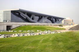 Qatar National Convention Center em Doha, Qatar, obra de Arata Isozaki concluída em 2011