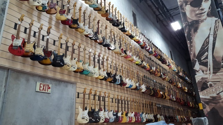 Guitarras do Hard Rock