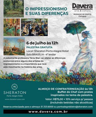 Convite para palestra sobre Impressionismo