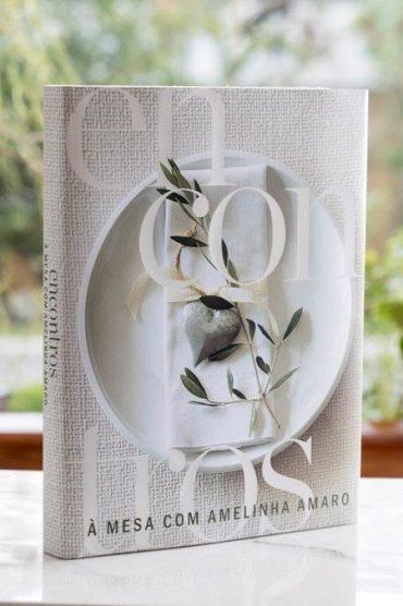 Capa do livro Encontros – À mesa com Amelinha Amaro (foto Cacá Bratke, divulgação)