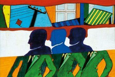 Obra do artista Granato - Série Pop, 1968, óleo sobre madeira, 46x36cm - em exposição no Sesc Guarulhos, em São Paulo